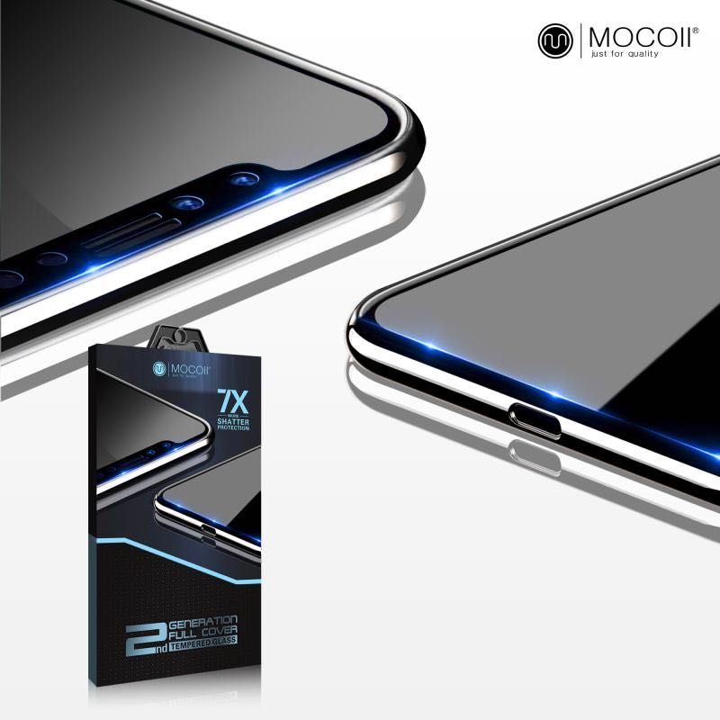 Защитное стекло для iPhone X Mocoll 2.5D Black Diamond Standart
