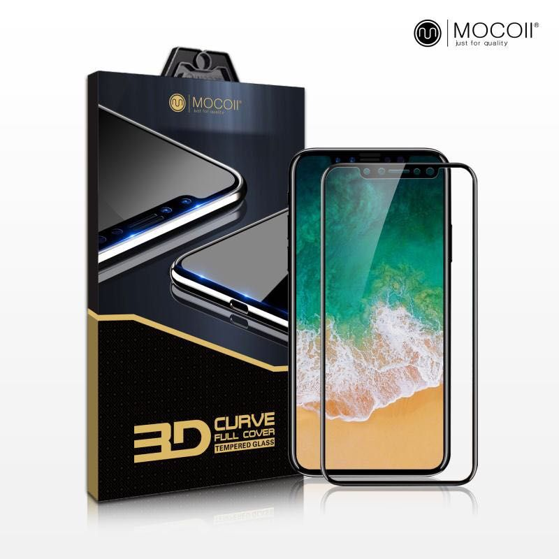 Защитное стекло для iPhone X Mocoll 3D Black Diamond Standart